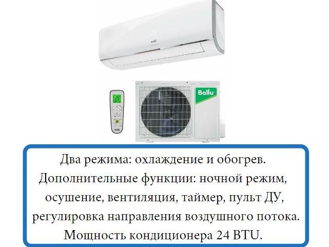 Настенная сплит-система Electrolux Ballu BSAG-24HN1_17Y