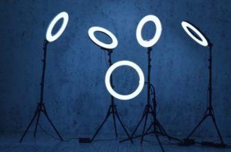 Лучшие кольцевые лампы для фотосъемки