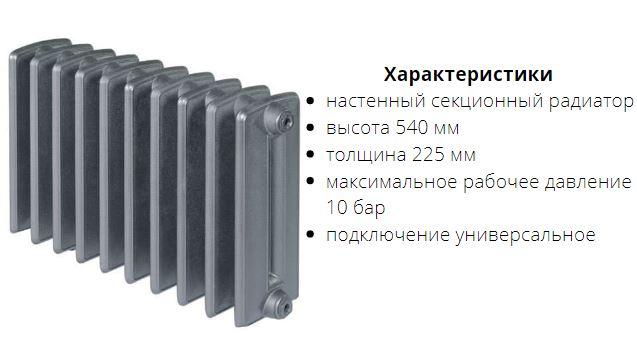 Радиатор чугунный Viadrus Bohemia 450/220