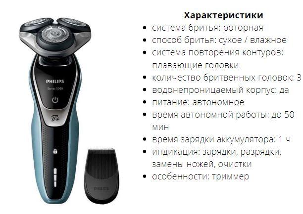 Электробритва Philips S5530 Series 5000