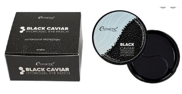Гидрогелевые патчи для глаз ESTHETIC HOUSE Black Caviar черная икра